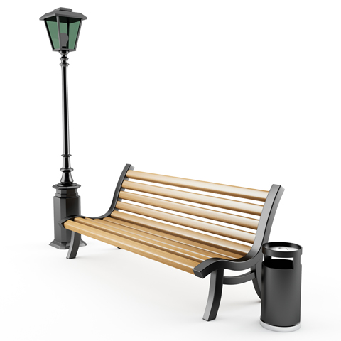 benches and bins